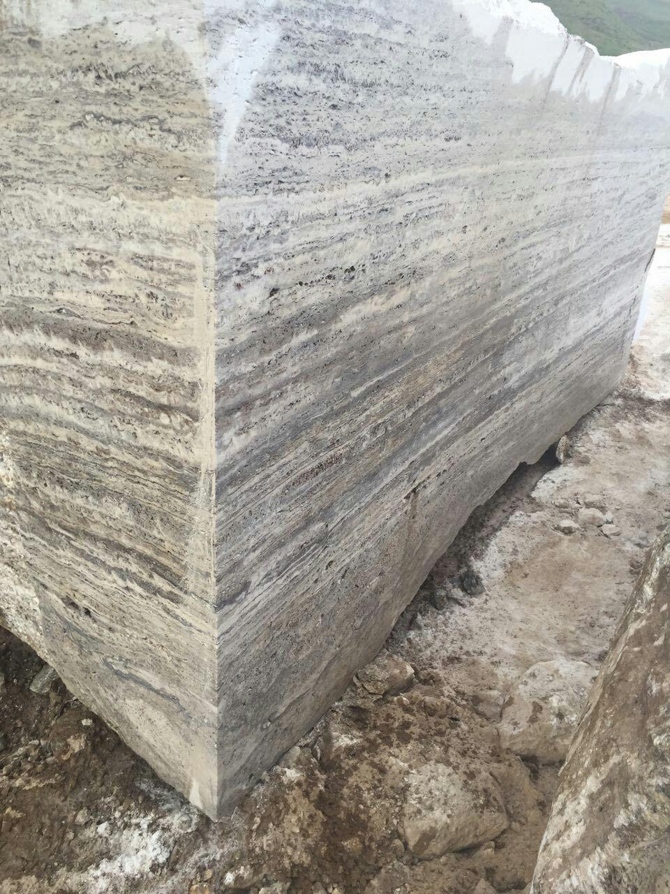 Titanium Grey Travertine Block