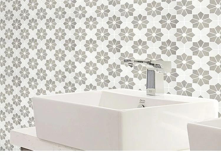 Lady Grey  Thassos white marble mosaic