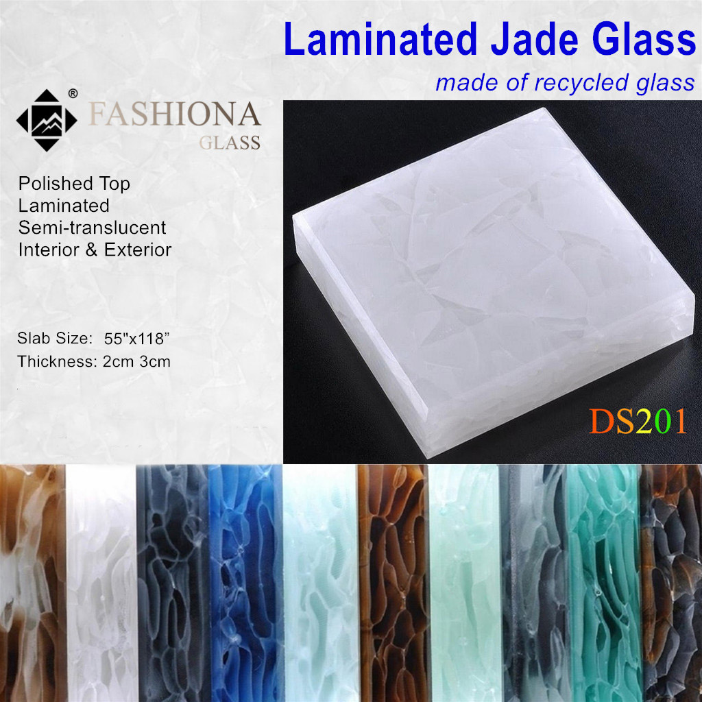 Laminated Jade Glass Panel