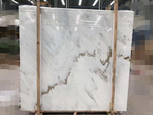 Chinese Landscape Marble Ocean Galaxy White