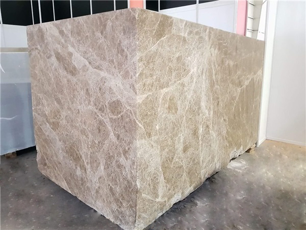 Light Emperador Marble Block
