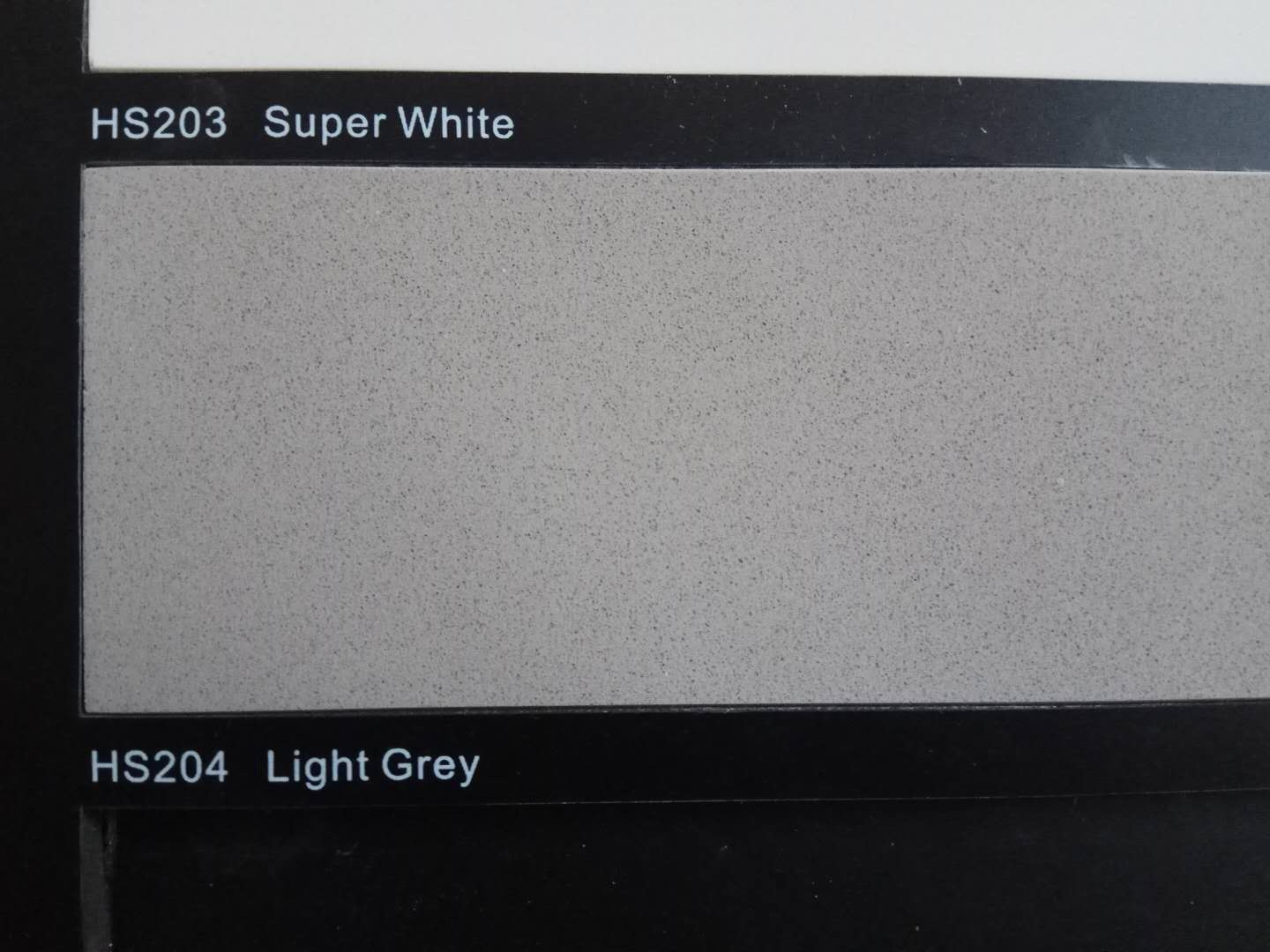 Light grey color artificial quartz stone slabs