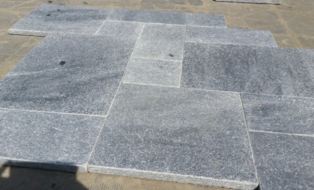 Silver Grey Paving Stone Sanded Antiqued French Pattern Sanded