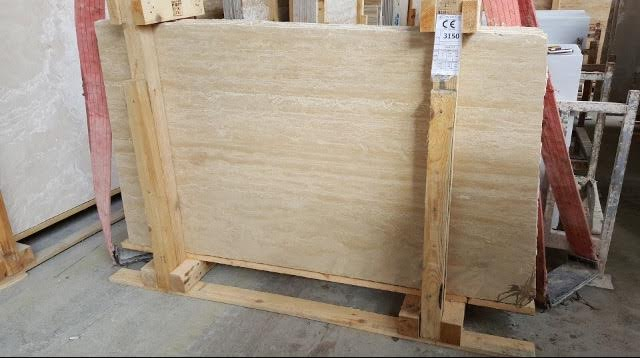LIGHT VEIN CUT TRAVERTINE SLAB