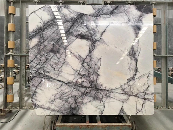 Lilac Gray White Marble Slabs