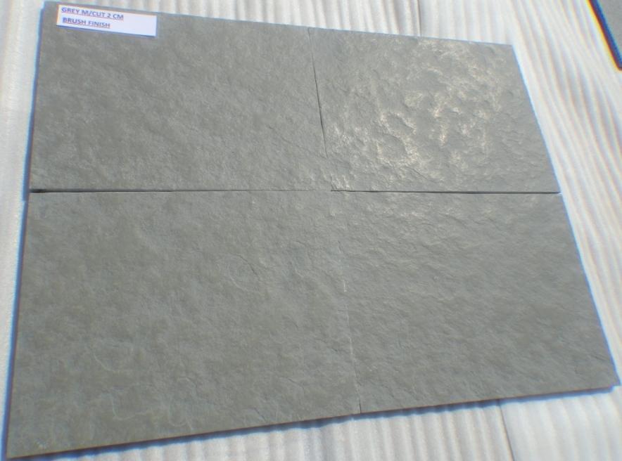 Limestone Grey - Natural Machine cut Brushed Tiles