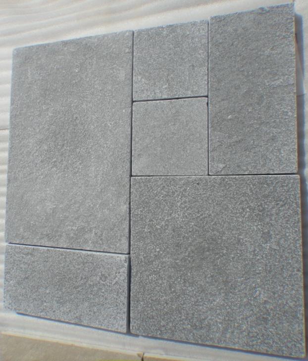 Lime Grey - Natural Machinecut Tumbled Tiles