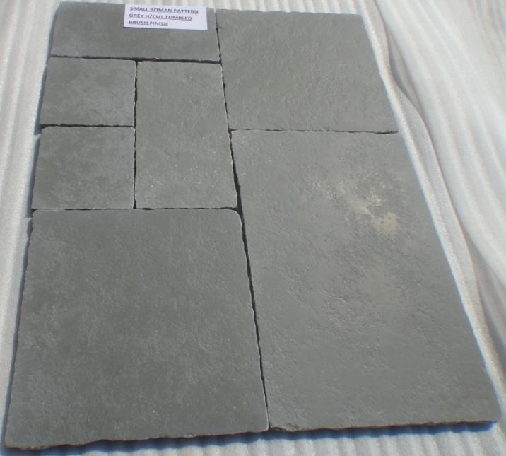 Limestone Grey - Natural Tumbled Brushed Tiles