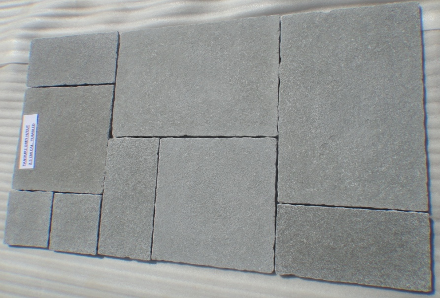 Limestone Grey - Natural Tumbled Tiles