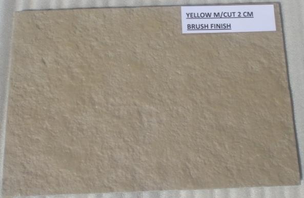 Limestone Yellow - Brushed Tiles