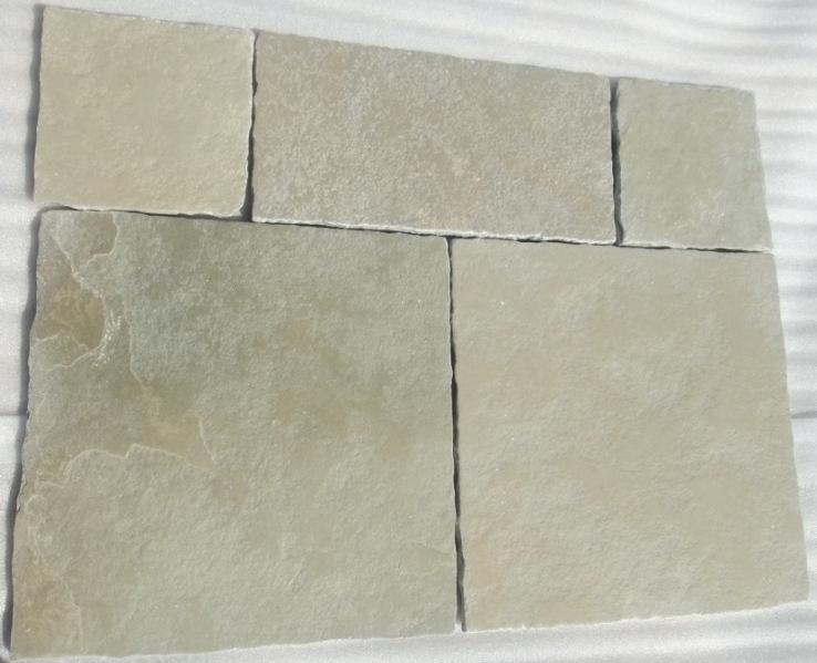 Limestone Yellow - Natural Handcut Half Honed Tumbled Tiles