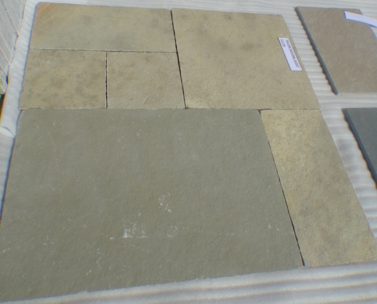 Lime Yellow - Natural  Handcut Tiles