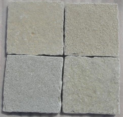 Limestone Yellow - Natural Handcut Tumbled Tiles