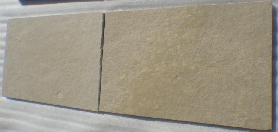 Limestone Yellow - Natural  Machine cut Brushed Tiles