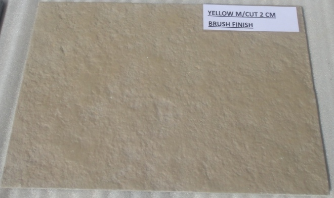Limestone Yellow - Natural Machinecut Brushed Tiles