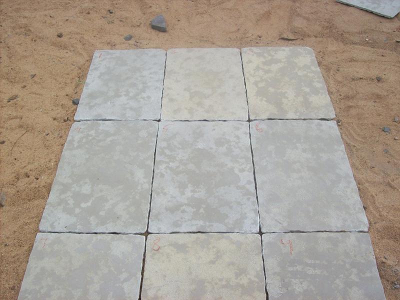Limestone Yellow Half Honed Tiles