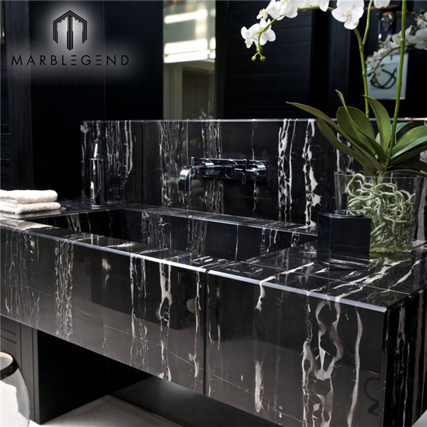 China Nero Portoro Marble For Countertop