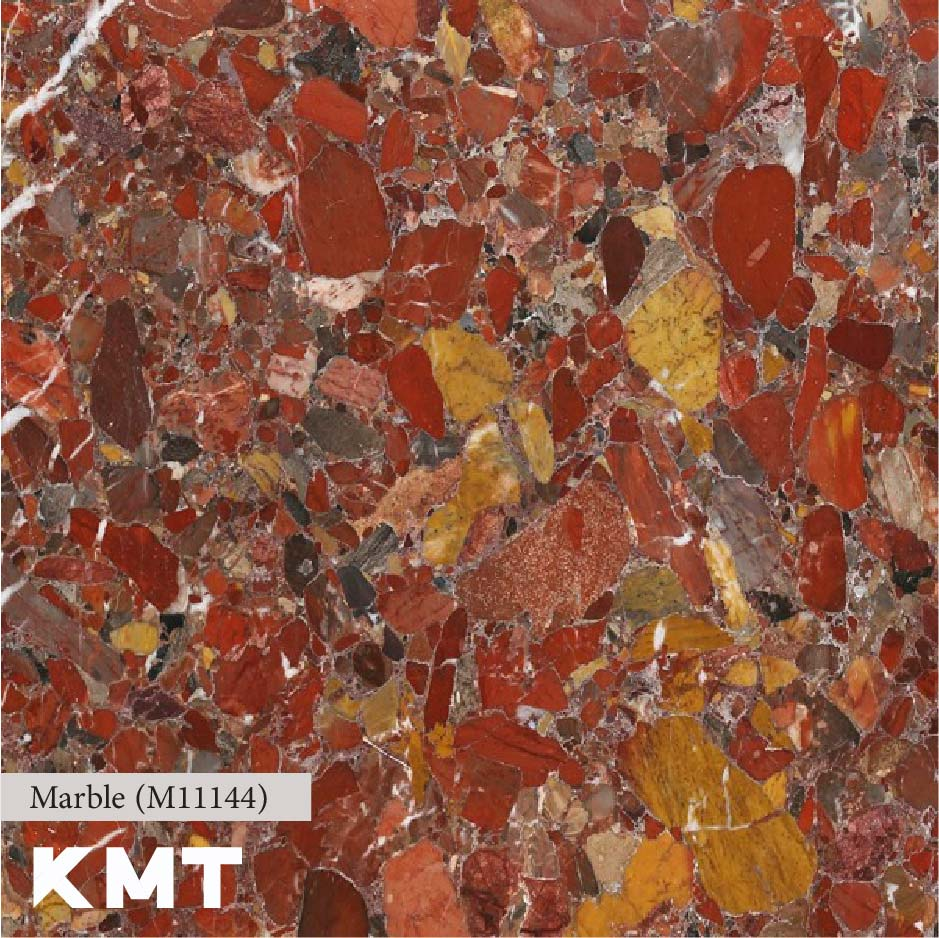 Red Conglomerate Marble slab