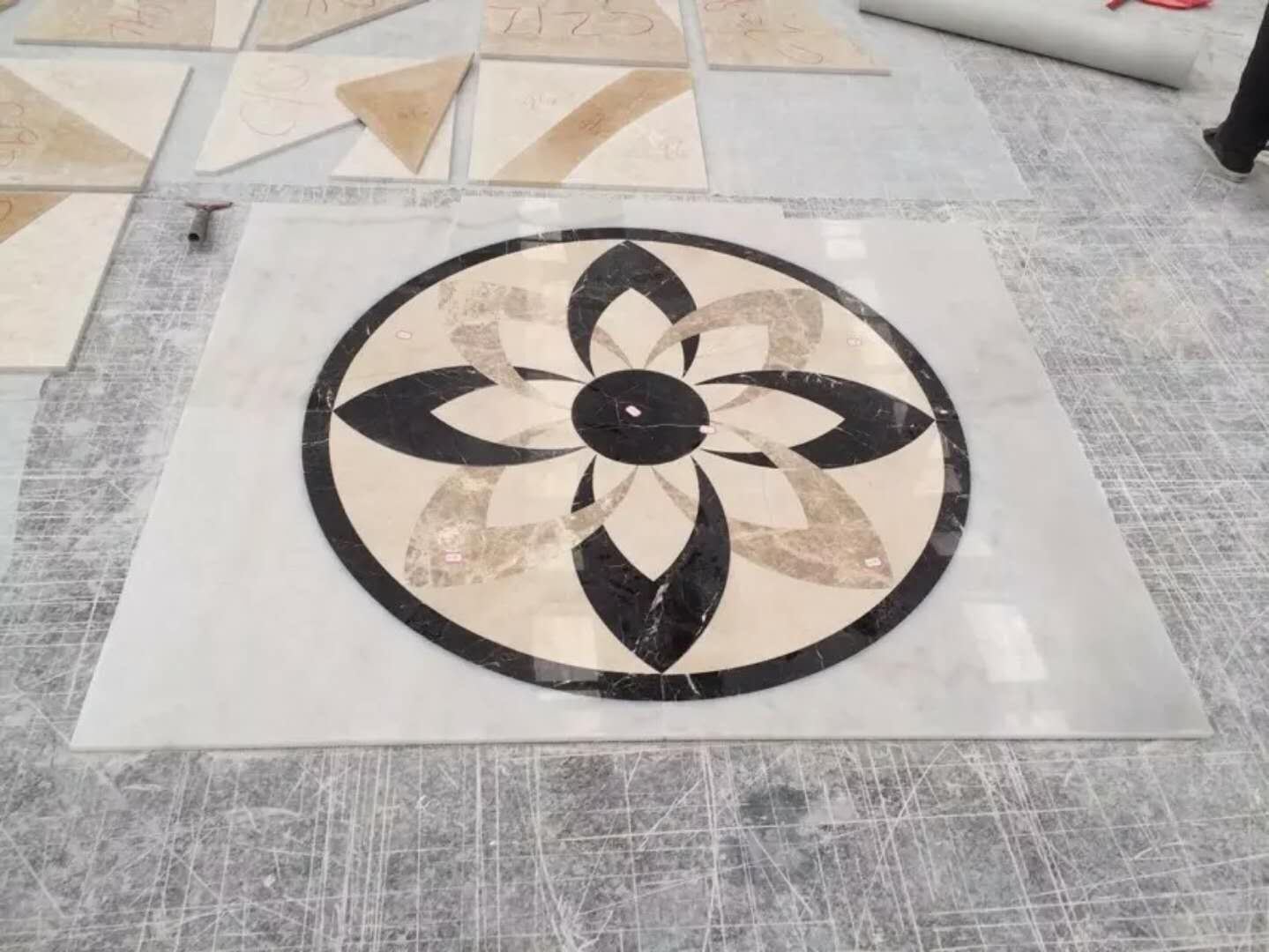 Waterjet Floor Medallions