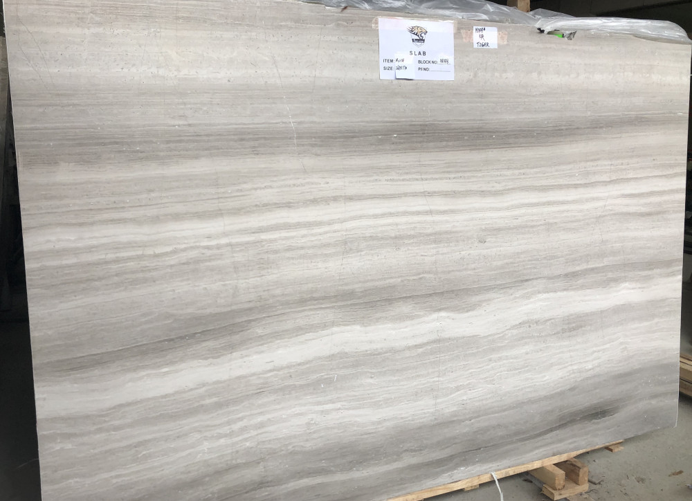 White Wooden Grain M014 Marble Big Slabs 1.8cm