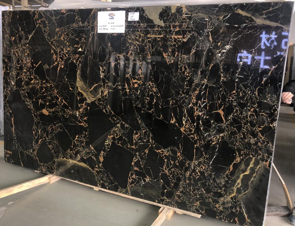 Black Golden Flower M038 Marble Big Slabs