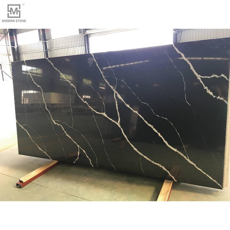 Black Maquina Countertop quartz slab MA3208