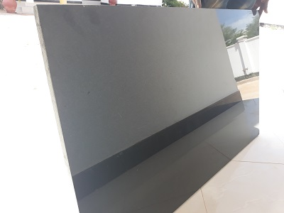 Black Polished Granite Slabs