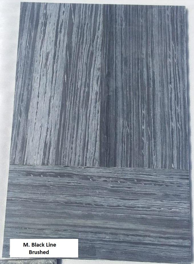 M Black Line - Brushed - 600x300 mm Tiles