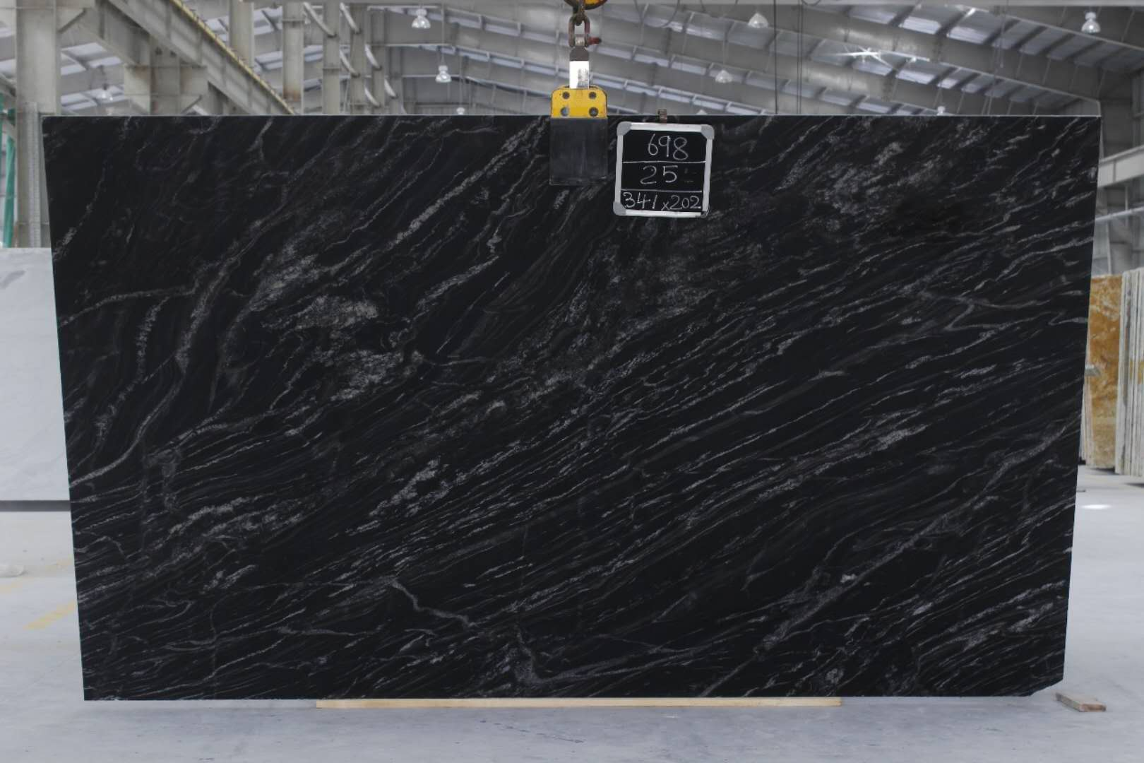 MG-698 Black Forest 2cm-67 Slabs Gross size-341 x 202