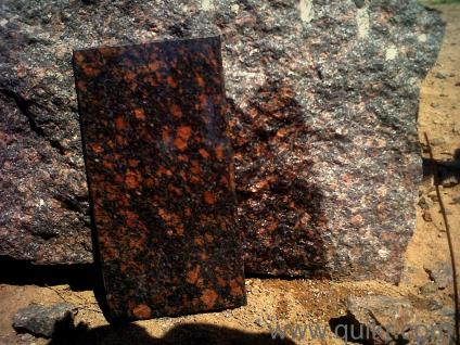 Leather Brown Granite Blocks