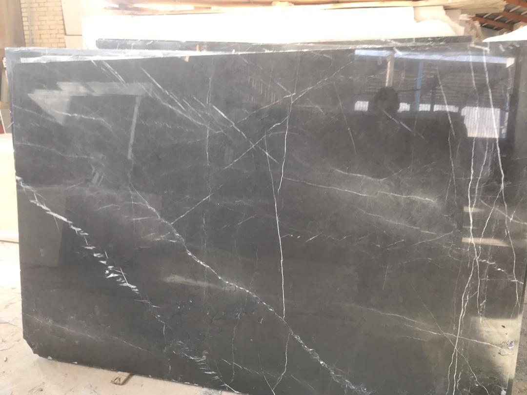 Pietra Grey Polished Marble Slabs