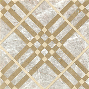 High Polished Burberry Gold Composite Marble Tile Wall and Floorin