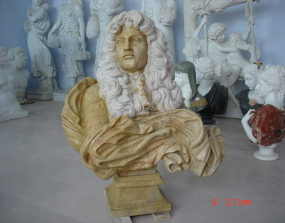 Beige Marble Handsome Young Man Stone Carvings