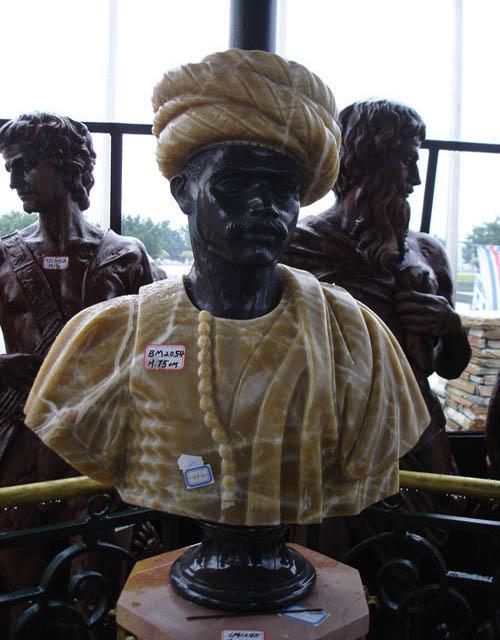 Decorative Black Marble Male Human Sculptures