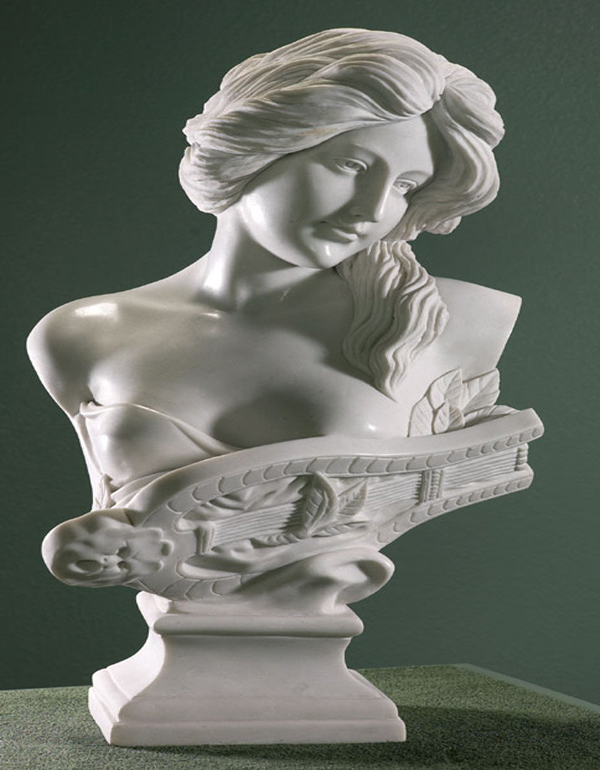 Custome white marble stone lady bust statue