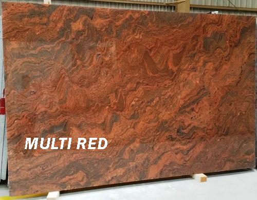 Multi Red Granite Slabs Polished Red Granite Slabs