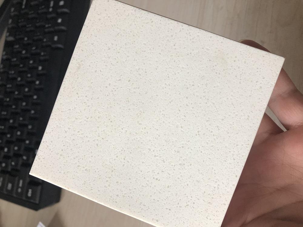Magnolia white quartz stone slab