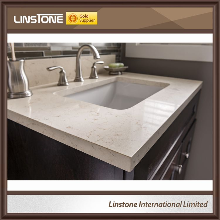 Marble beige bathroom top
