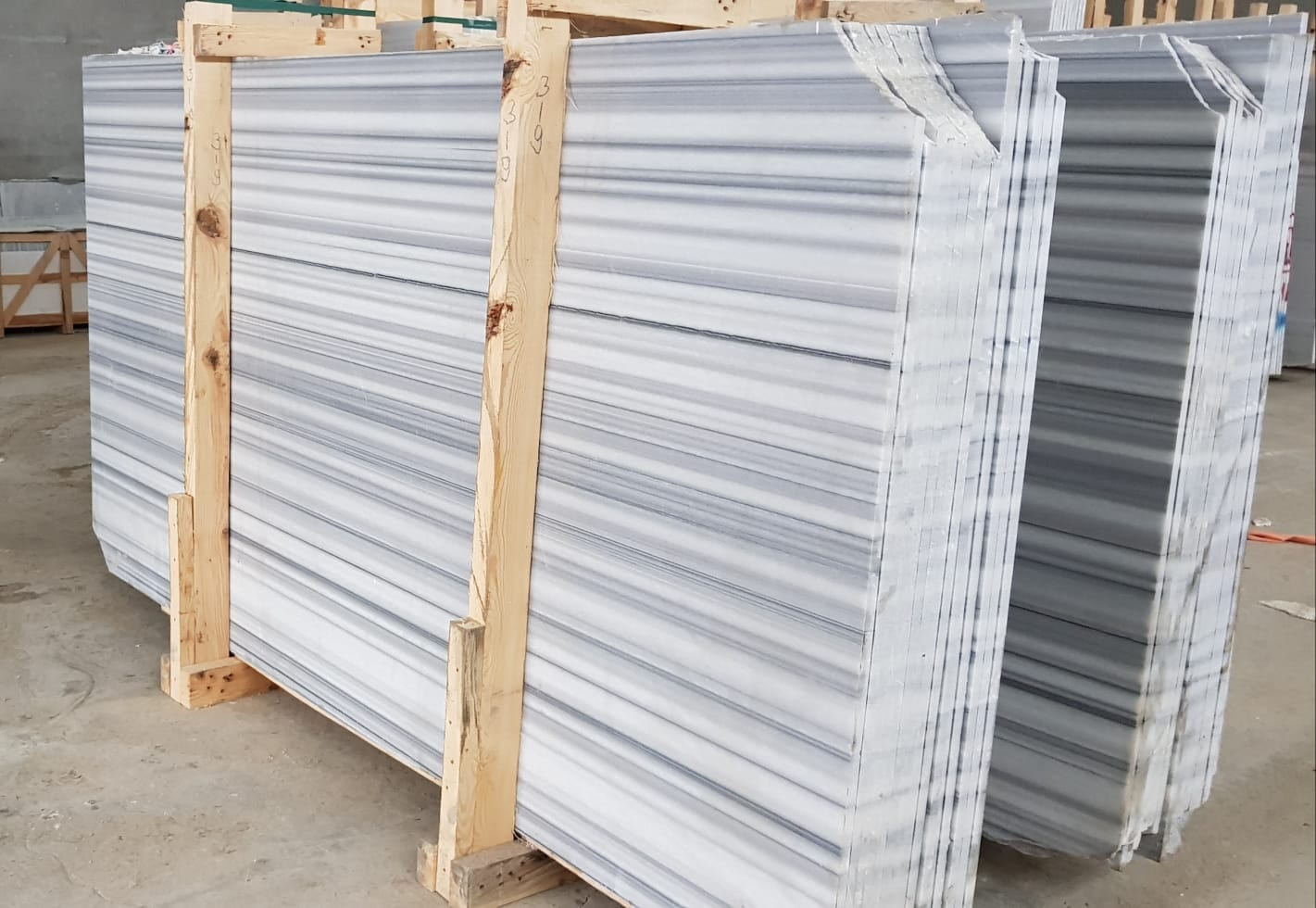 Marmara Marble Slabs Polished Turkish White Marble Slabs