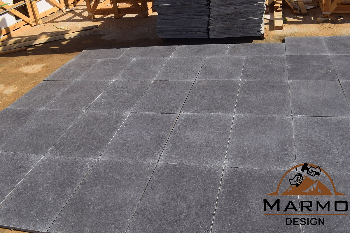 Melly Grey Dark Tumbled Marble Tiles