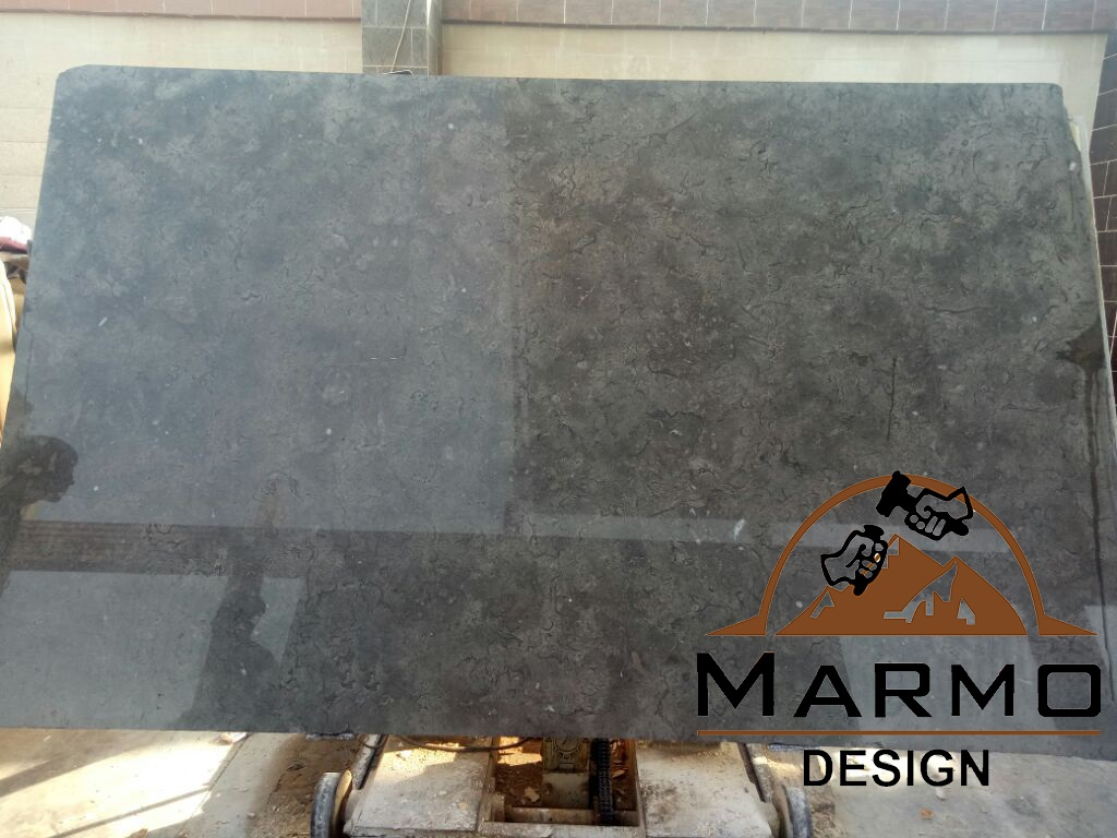 Melly Grey Fossils Polished Marble Slabs