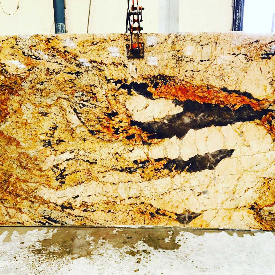 Mica gold granite