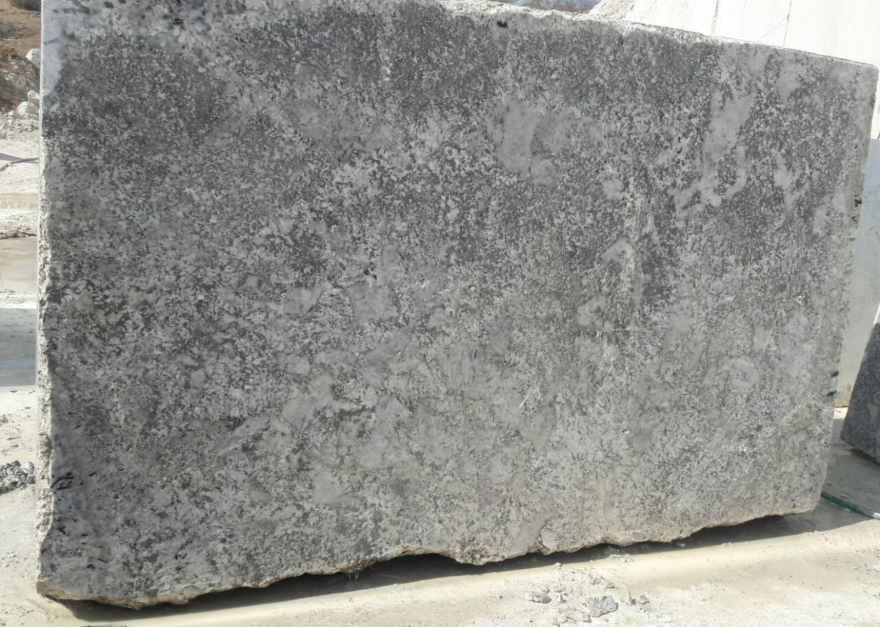 Mica white marble block
