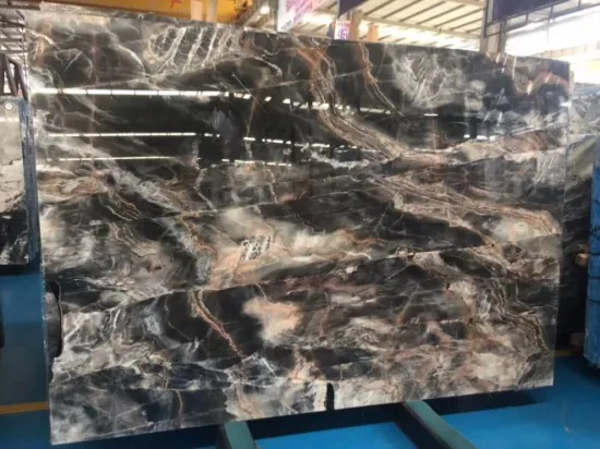 China Mirage Black Marble Slab For Bathroom