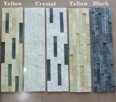 Glue Marble Cultured Stone Ledge Stone Veneer Panel  Stack Stone