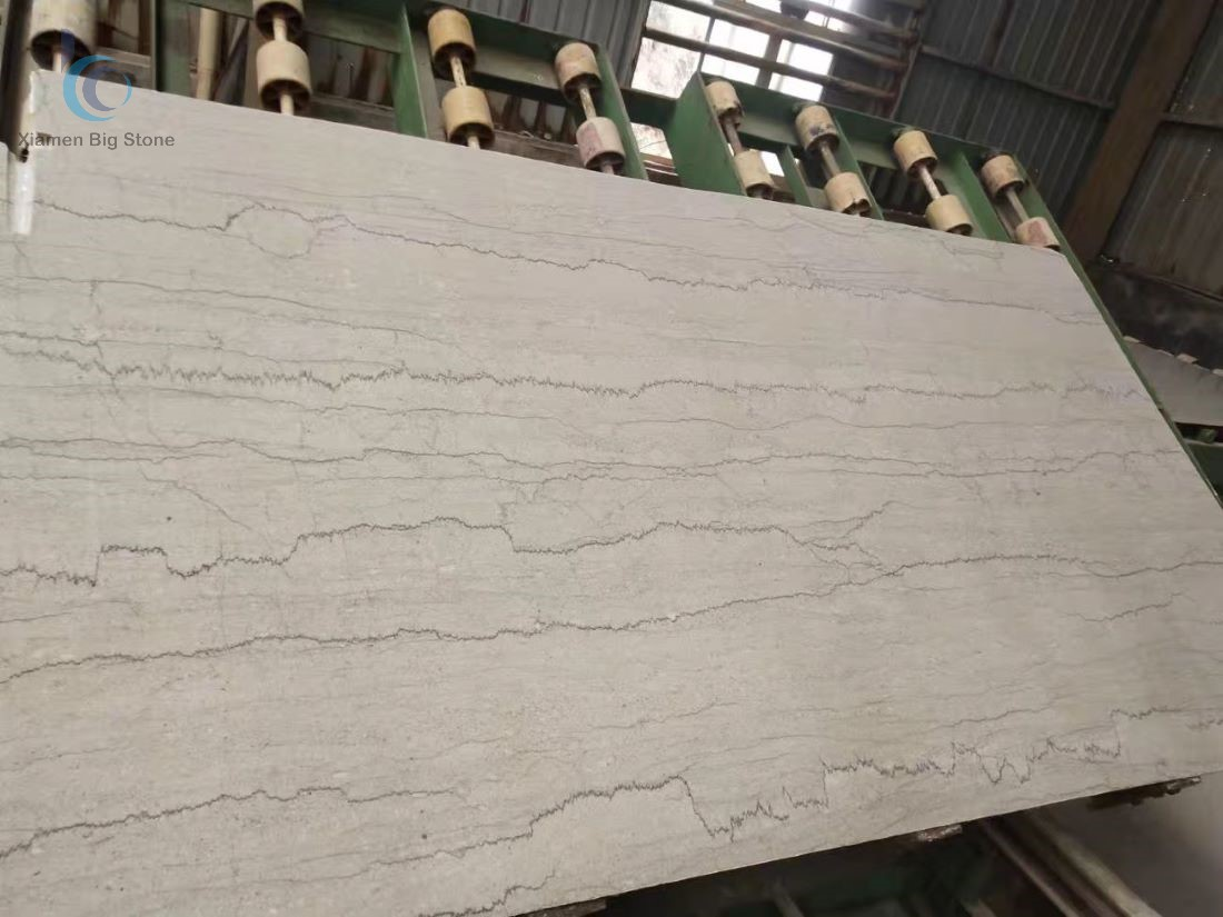 Monet Grey Chinese Marble Big Slab Straight Veins