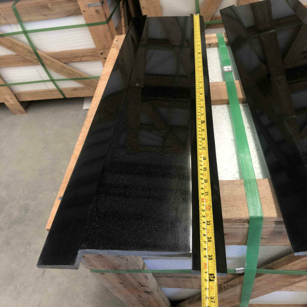Black granite threshold to UK
