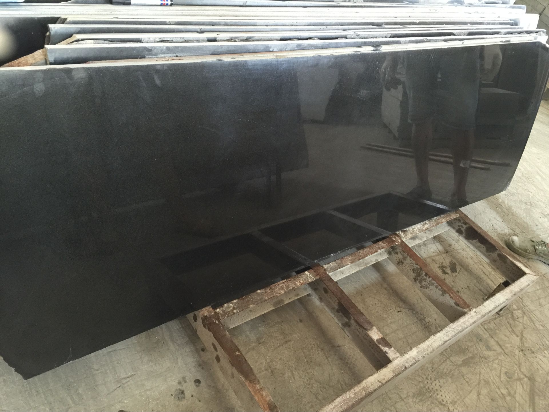 Mongolian Black Granite slab