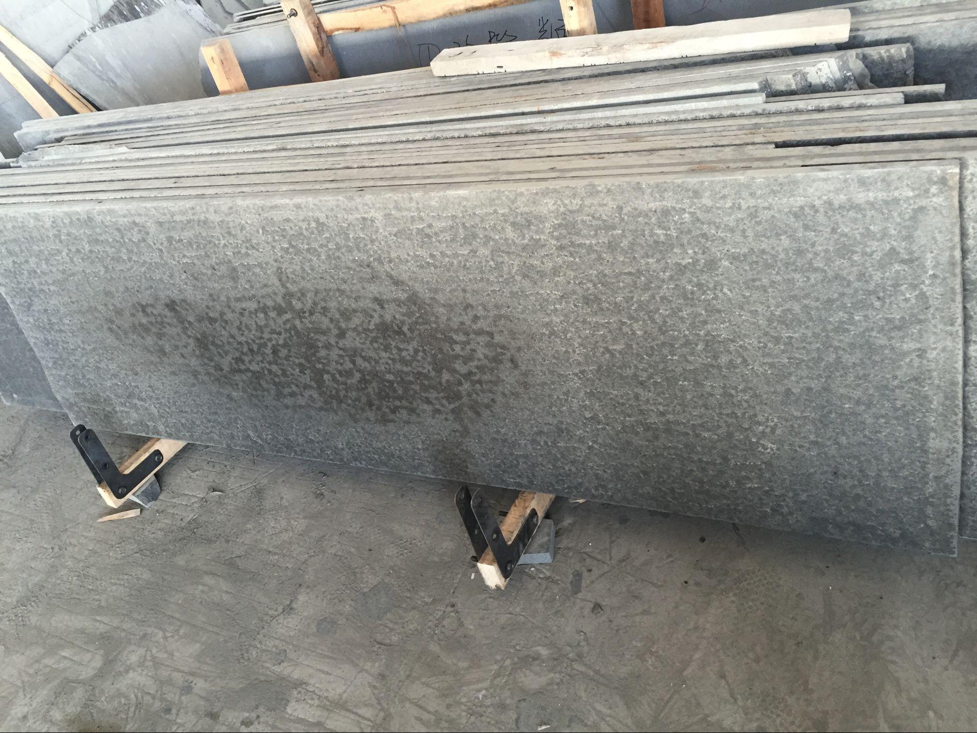 Mongolia black granite flamed slab