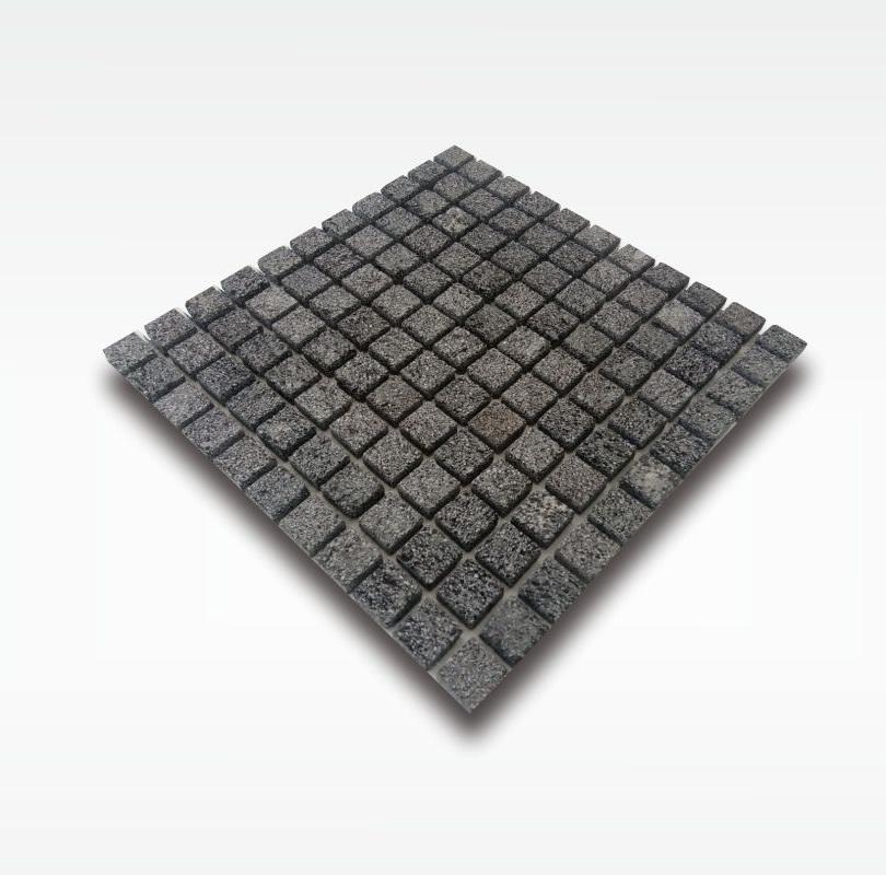 Mosaic Bali Black Lavastone for Swimming Pool - 2 5x2 5cm - Dry